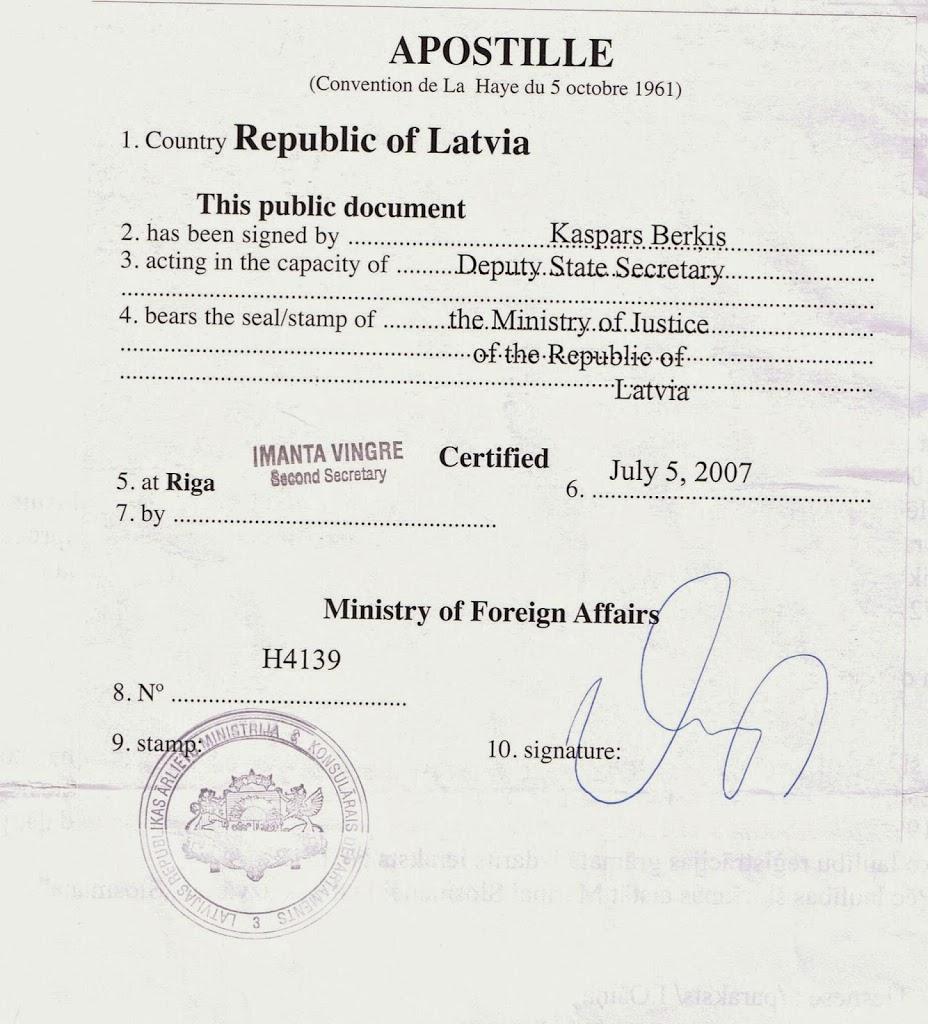 Apostille Latvia