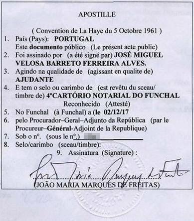 Apostille Portugal