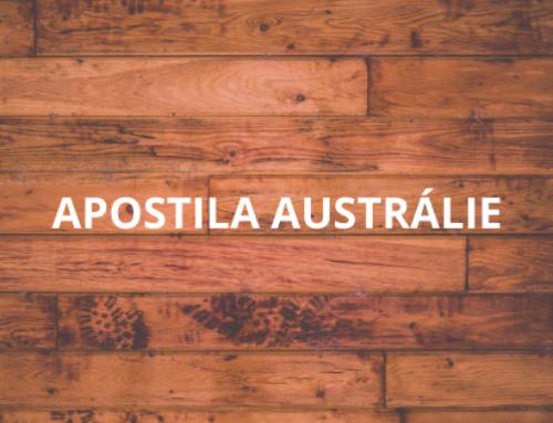 Návod pro apostilu v Austrálii