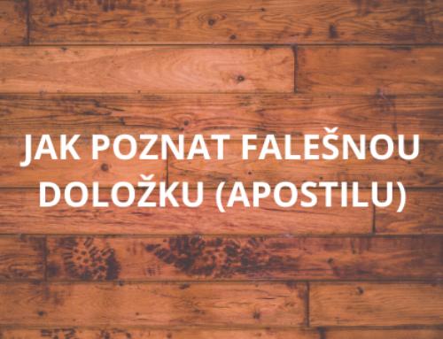 Jak poznat falešnou doložku (apostilu)