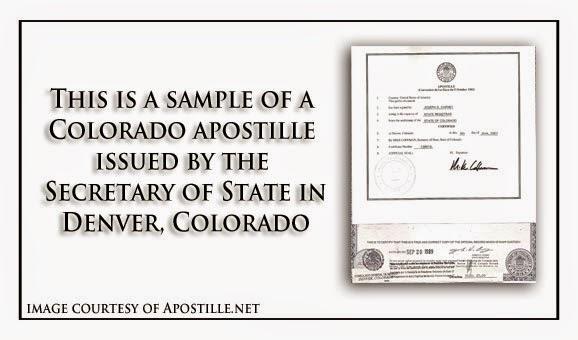 Apostille Colorado