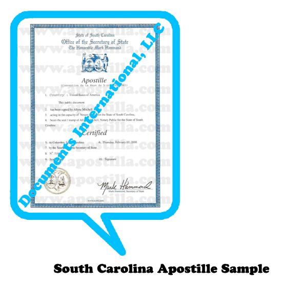Apostille South Caroline