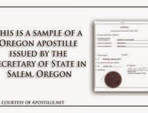Jak vypadá Apostille z Oregonu