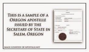Apostille Oregon